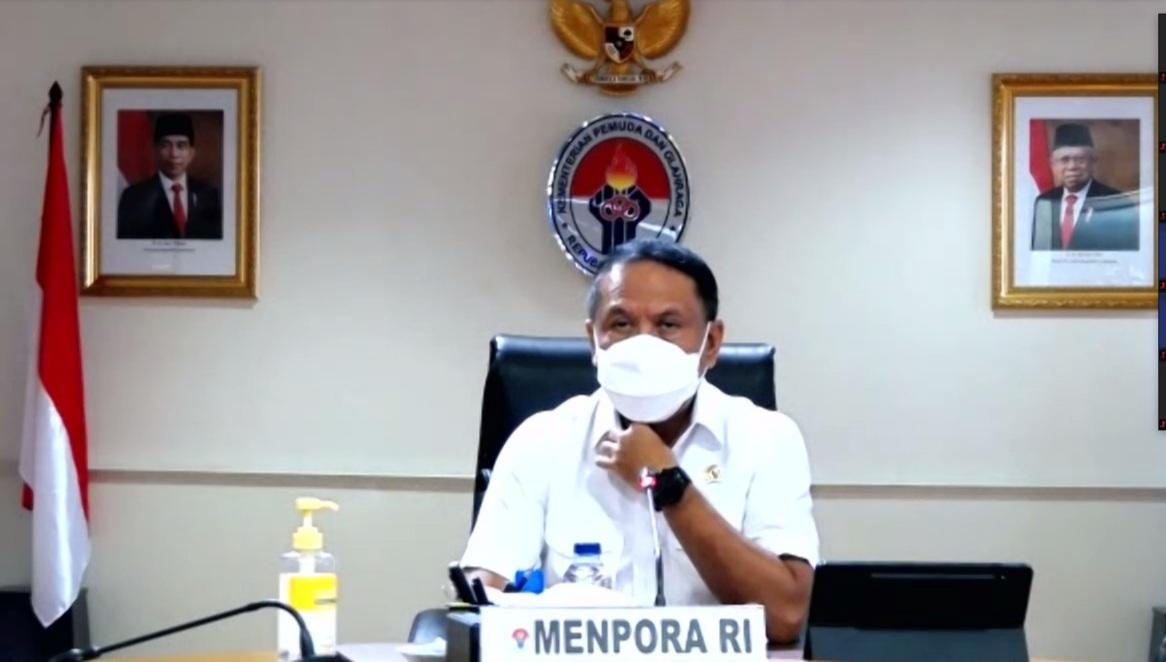 Menpora Zainudin Amali-Hadiri-Virtual-Exchange-of-Views-dengan-Presiden-WADA-dan-Para-Menteri-dari-Asia