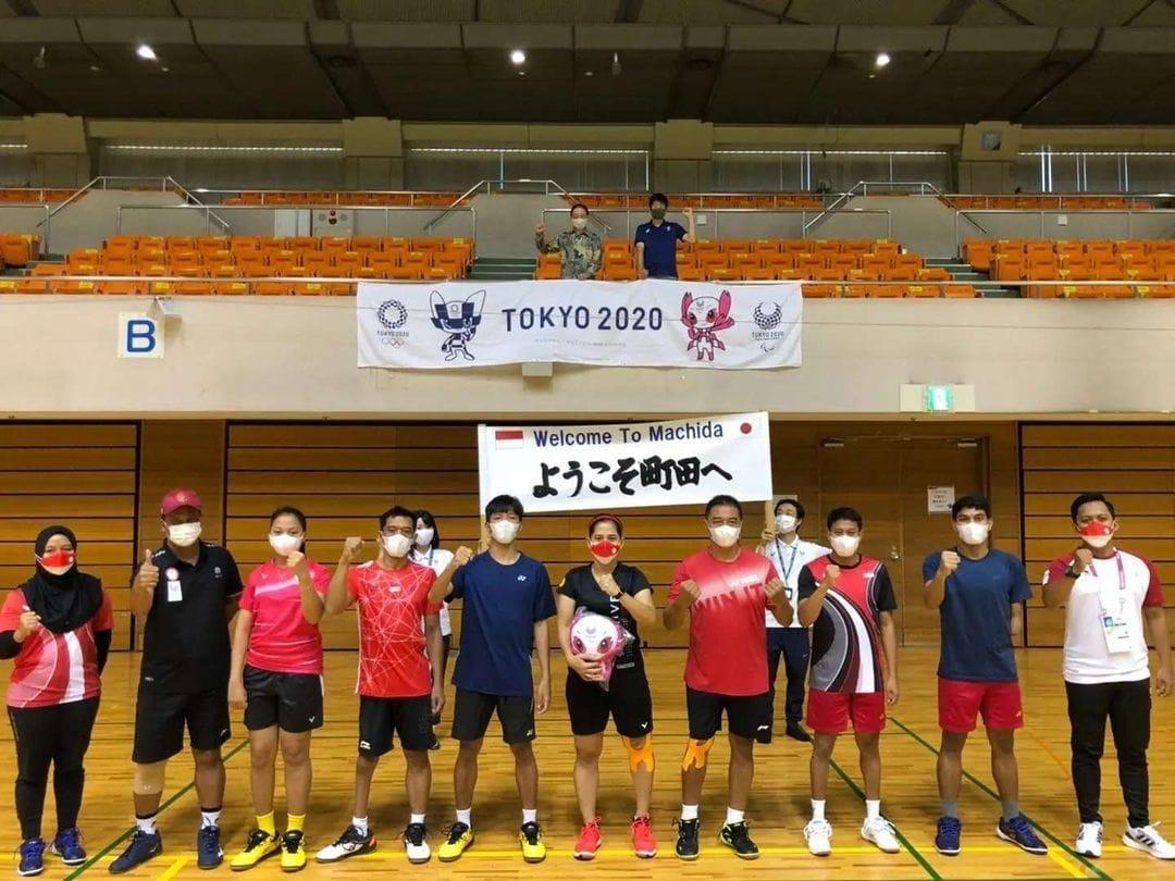 Wali Kota Machida Kunjungi Latihan Para Badminton Indonesia
